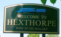 Hexthorpe Welcome Sign Mallard